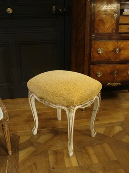 Antique Louis XV Style Painted Wooden Stool