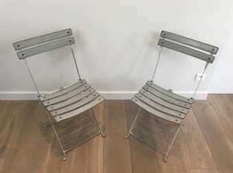 Antique PAIR OF FOLDING CHAIRS