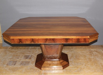 Antique Art Deco Period Table In Walnut Extendable
