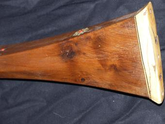 Antique Rare very long muskhala rifle of Algeria circa xviii e xix century 180 cms