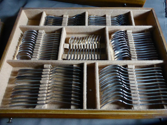 Antique CHRISTOFLE CUTLERY BOX