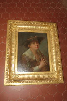 Antique 18th CENTURY OIL ON CANVAS