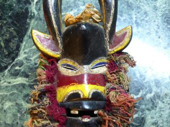Antique Beautiful African Mask Horns Collected First Half Of The XX Eme. Africa