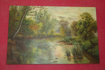 Antique EARLY 20th CENTURY OIL ON CANVAS