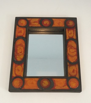Antique CERAMIC MIRROR