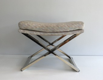 Antique CHROME STOOL