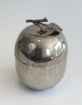 Antique SILVER PLATE ICE BUCKET