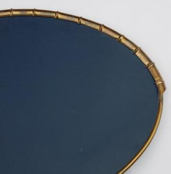 Antique 1970'  Mirror Lighting Maison Jansen Deco  Bamboo and Foliage Style Duval Brasseur