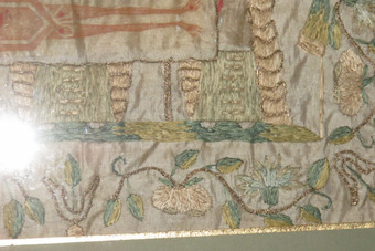Antique 18th century religious embroidery