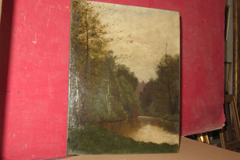 Antique 19th CENTURY FRENCH LANDSCAPE