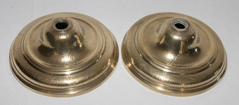 Antique PAIR OF BRONZE CANDLESTICKS