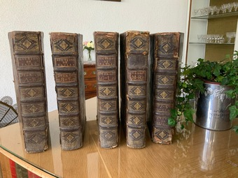 Antique 18th CENTURY BOOKS BY PIERRE BAYLE