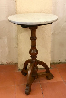 Antique 19th C SMALL WALNUT PEDESTAL