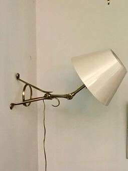 Antique BENSON TYPE ARTICULATED LAMP / WALL LAMP