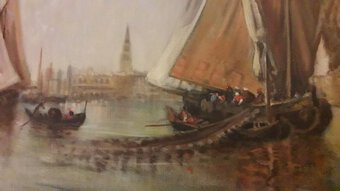 Antique 20th CENTURY PAINTING OF VENICE
