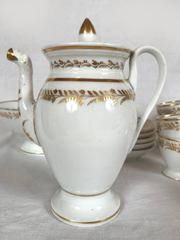 Antique PORCELAIN DE PARIS COFFEE AND DESSERT SERVICE