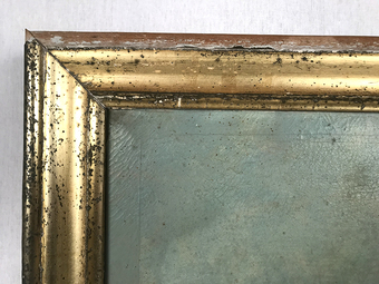 Antique 19th CENTURY TRUMEAU MIRROR