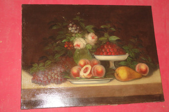 Antique 19th CENTURY OIL ON CANVAS.