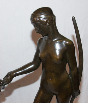 Antique ART DECO PERIOD BRONZE BY DANIEL BACQUE