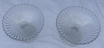 Antique 1950' Pair of Baccarat Cups Tors Model Signed