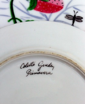 Antique ART DECO PERIOD PLATES by Colette Gueden for Primavera