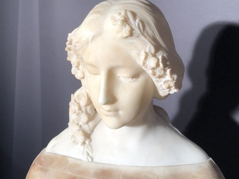 Antique MARBLE SCULPTURE SIGNED GORY