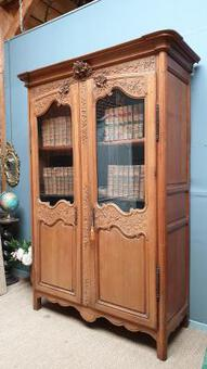 Antique 19 Cth Oak Armoire bookase