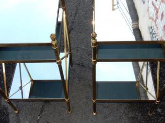 Antique 1950/70' Pair of Shelves has 3 levels Maison Bagués With Mirror 32 X 32 cm