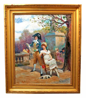 Antique OIL ON CANVAS BY Raymond Desvarreux (1876-1961)