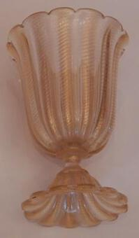 Antique 1970' Murano Foot-Shaped Vase in The Style of  Barovier i Toso