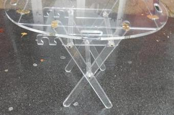 Antique 1970 ' Table of Marine Altuglass has Adjustable Height