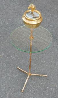 Antique 1970 'Ashtray Brass Tripod Maison Bagués at the Head of Horse