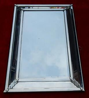 Antique 1950' Venitian Mirror to Parecloses Very Soft 137 X 90 cm