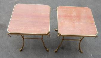 Antique 1970 'Pair of Octagonal Pedestals Jacques Charpentier