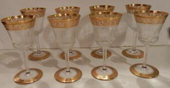 Antique 1950 'Crystal Service From St Louis Thistle 90 Piéces