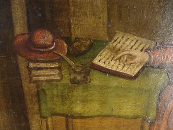 Antique 18th CENTURY OIL ON WOOD PANEL
