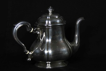 Antique Coffee And Tea Service In Sterling Silver, Hallmark Minerva