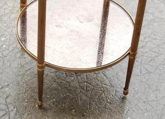 Antique 1950/70 Stand Table  Gilded Brass Maison Bagués