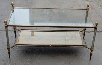 Antique 1950/70' Coffee Table Maison Jansen 93 x 49 cm