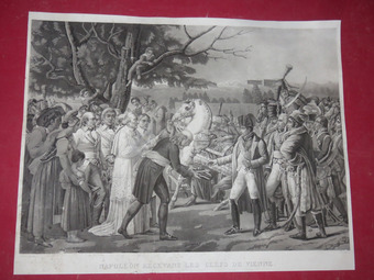 Antique 19th CENTURY PRINT OF NAPOLEON