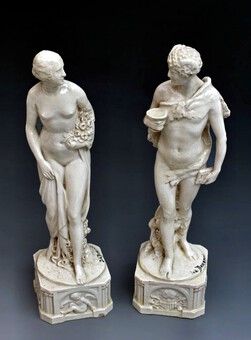 Antique PAIR OF STATUES SIGNED JOE DESCOMPS