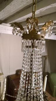 Antique FRENCH RESTAURATION STYLE CEILING LIGHT