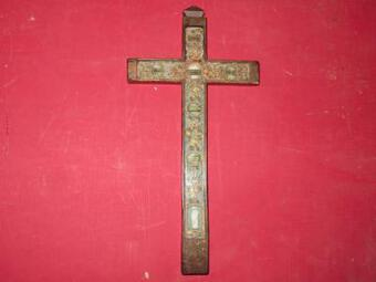 Antique 18th C RELIQUARY CRUCIFIX
