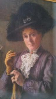 Antique Antique Portrait ;Pastel  Belle époque