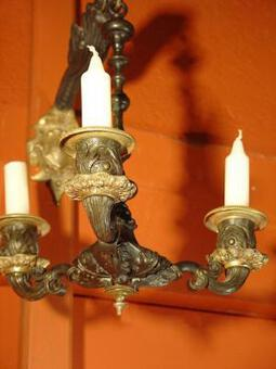 Antique 19 th century bronze Sconces