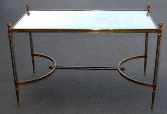 Antique 1950/70' Coffee Table Maison Jansen 80 x 49 cm