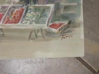 Antique 20th C WATERCOLOUR SIGNED GUY FANTOU