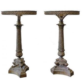 Antique A Pair of Lamp Bases 1880
