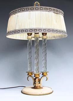 Antique ART DECO PERIOD LAMP ATTRIBUTED TO GENET & MICHON