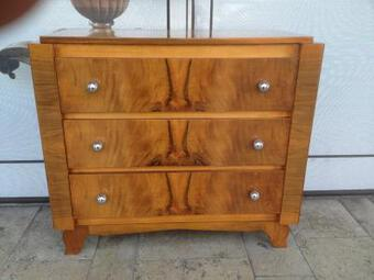 Antique ART DECO STYLE CHEST OF DRAWERS